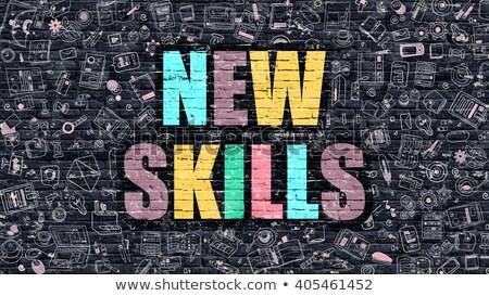új · kompetencia · oktatás · modern · stílusú · illusztráció · piros - stock fotó © tashatuvango