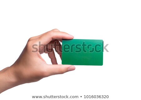 Woman holding a green card Stock photo © IS2