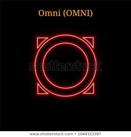 Omni Cryptocurrency - Vector Colored Logo. Stock photo © tashatuvango