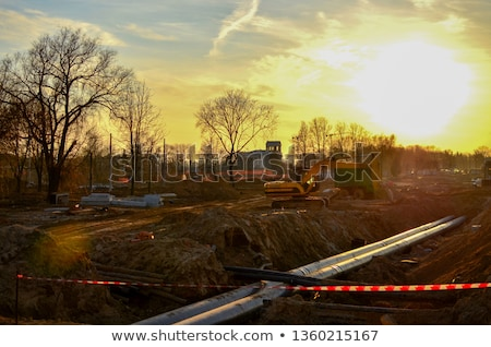 Csövek földalatti építkezés férfi dolgozik biztonság Stock fotó © IS2