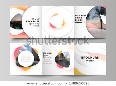 Creativa geométrico vibrante folleto plantilla resumen Foto stock © SArts