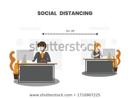 üzletemberek ül szemtől szembe férfi üzletember asztal Stock fotó © IS2