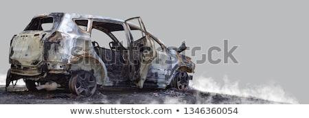 огня автомобилей автомобиль крушение аварии колесо Сток-фото © ia_64