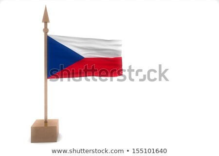 Czech Republic Flag isolated. ribbon banner. state symbol Stock photo © popaukropa