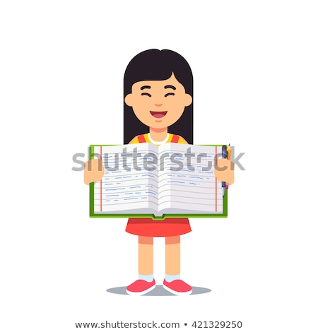 A Girl Holding a Worksheet Stock photo © bluering