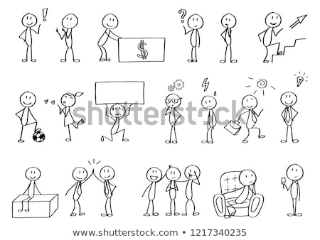 Stick figures and presentation Stock photo © Ustofre9