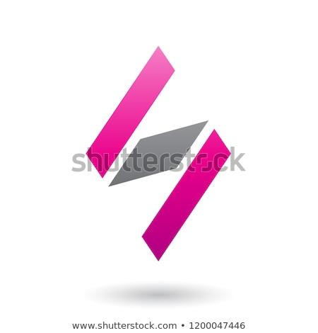 пурпурный черный Diamond письме вектора Сток-фото © cidepix