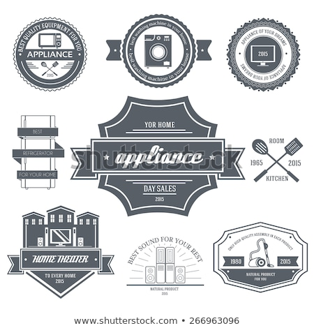 Appliances label template of emblem element for your product or design, web and mobile applications  Stock photo © Linetale