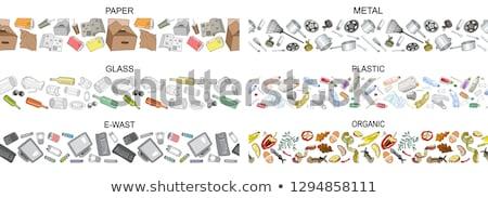 modern · újrahasznosít · valósághű · izolált · fehér · felirat - stock fotó © robuart