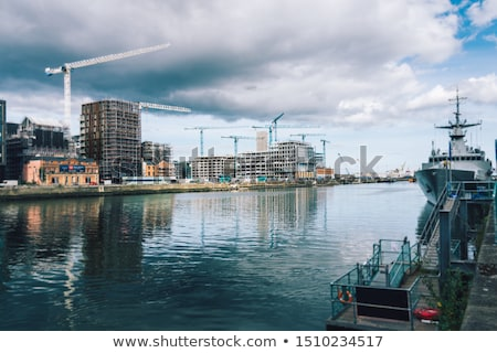 Yeni binalar Dublin daire bloklar Stok fotoğraf © Eireann