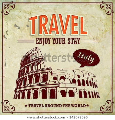 Italië architectuur sightseeing sticker Rome vector Stockfoto © robuart