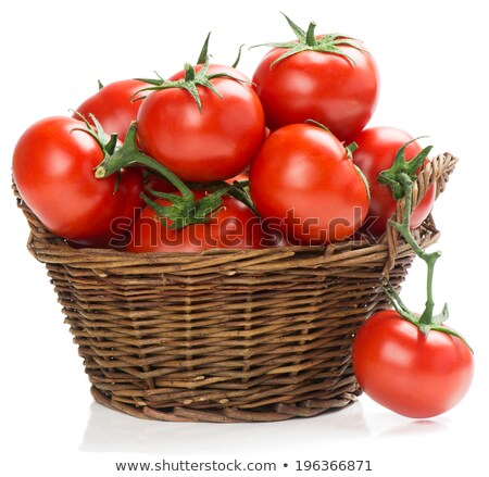 A basket of red tomato Stock photo © colematt