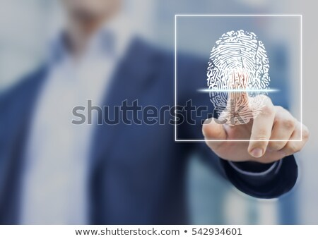指紋 · 黒 · 白 · 手 · 印刷 · 情報 - ストックフォト © robuart