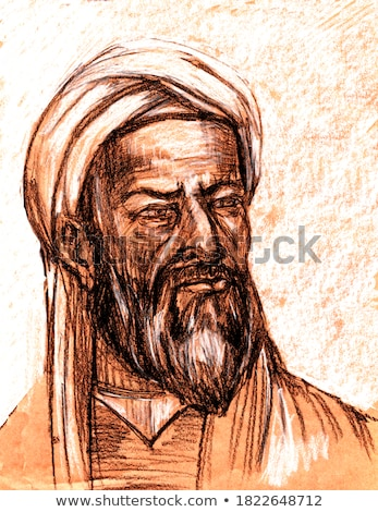 Al-Biruni Muslim Scholar Illustration Stock photo © artisticco
