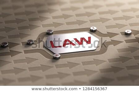 legal · desonestidade · justiça · símbolo · lei · escala - foto stock © olivier_le_moal