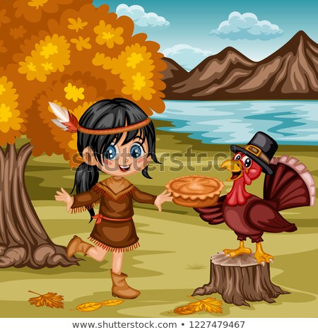 Holiday Thanksgiving Day Clothing Icon Vector Stock photo © robuart