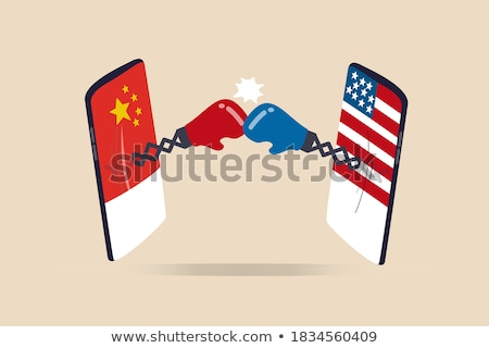China EUA comércio lutar Estados Unidos chinês Foto stock © Lightsource
