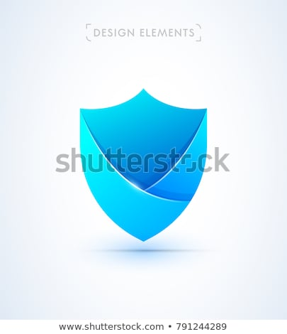 Protection shield concept, protected sign, Vector illustration isolated on white background. Stock photo © kyryloff