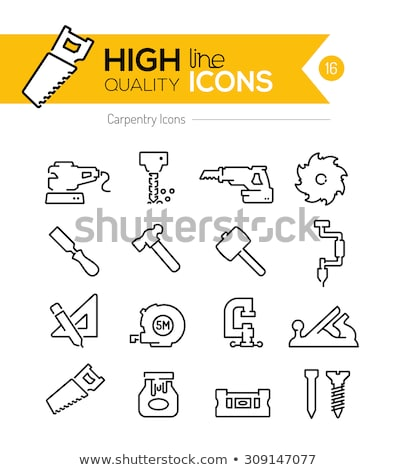 Icon of vise Stock photo © angelp