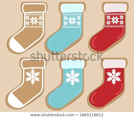 Natale giocattolo forma rosso inverno calzino Foto d'archivio © Lady-Luck