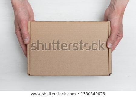 Carteiro pacote caixa caixas caminhão de entrega negócio Foto stock © Kurhan