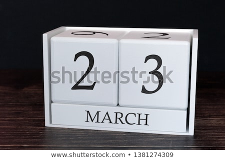 Cubes calendar 23rd March Stock photo © Oakozhan