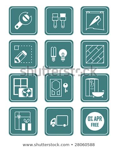 Otthon javítás ikon gyűjtemény vektor terv illusztráció Stock fotó © nosik