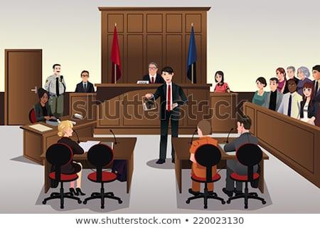 Photo stock: Scène · illustration · justice · juge · cartoon