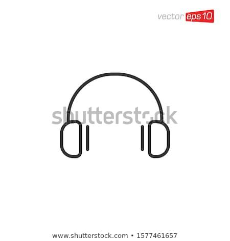 Headphone icon design template vector Stock photo © haris99