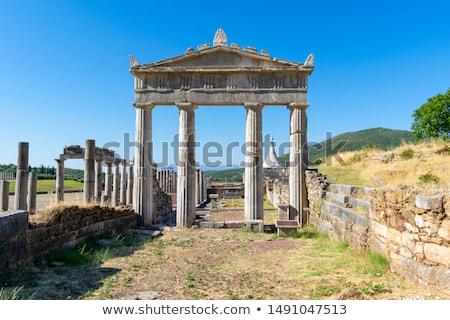 Anciens Grèce stade été Voyage pierre Photo stock © borisb17