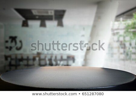 Selected focus empty black wooden table and meeting room or offi Stock photo © Freedomz