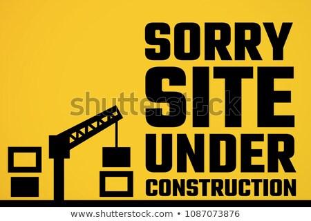 Site construção texto amarelo composição digital computador Foto stock © wavebreak_media