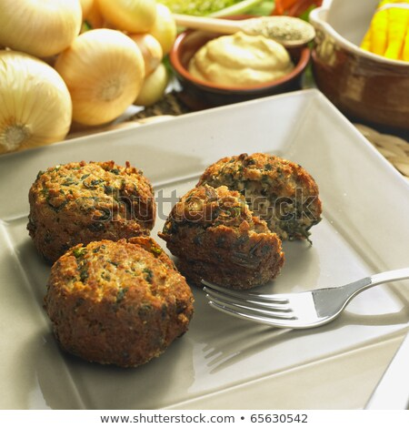 rissoles with mangold Stock photo © phbcz