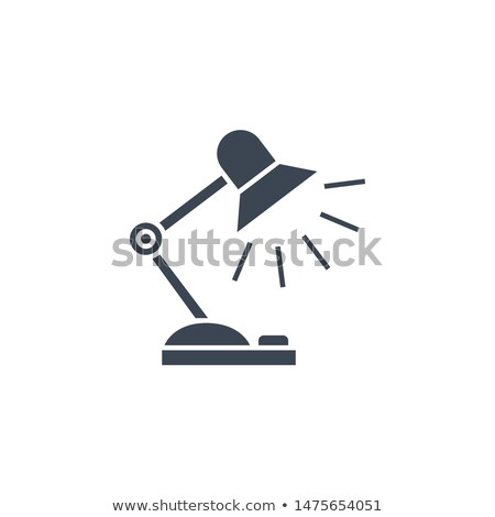 Reading-lamp related vector glyph icon. Stock photo © smoki