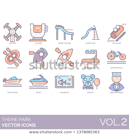 Mascot Bumper Boat Illustration Stock photo © lenm