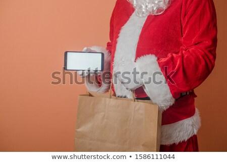 Santa claus_food festival Stock photo © toyotoyo