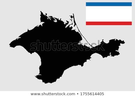 Mapa conflito regiões isolado branco mar Foto stock © kyryloff