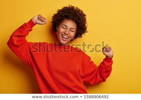 Alegre africano americano mulher alegremente casual Foto stock © vkstudio