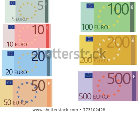 Flat simple five hundred euro banknote on white Stock photo © evgeny89