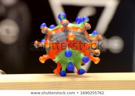 Plastica modelli coronavirus bianco copia spazio Foto d'archivio © Giulio_Fornasar