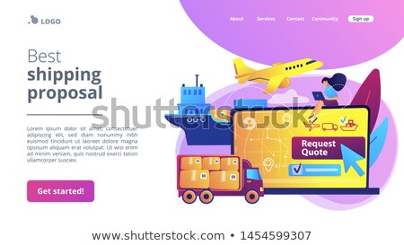 Freight quote request concept landing page Stock photo © RAStudio