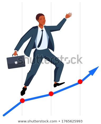 черный мужчины бизнесмен успешный карьеру Сток-фото © orensila