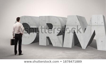 Widok z tyłu biznesmen stałego skrót uwaga Zdjęcia stock © ra2studio