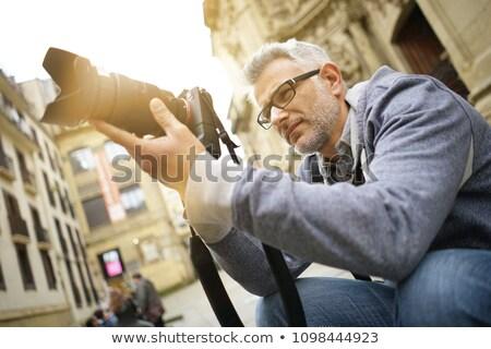 vrouw · schieten · foto · blond · geïsoleerd · witte - stockfoto © smithore