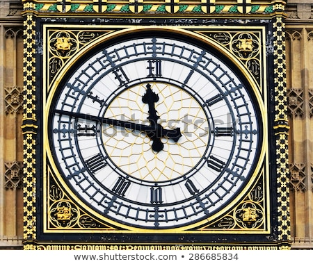 Close view of the clock face of Big Ben. Stock photo © latent