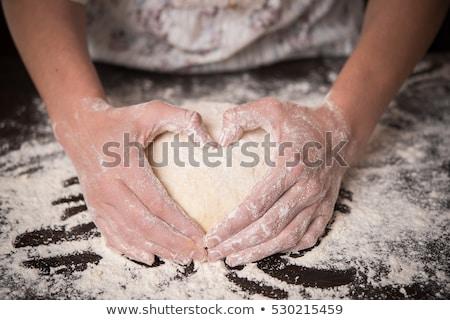 ブラウン · 白パン · 心 · スライス - ストックフォト © frannyanne