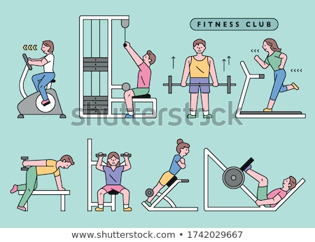 girl and boy in health club Stock photo © Paha_L