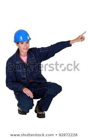 женщины каменщик работу синий вызова человек Сток-фото © photography33