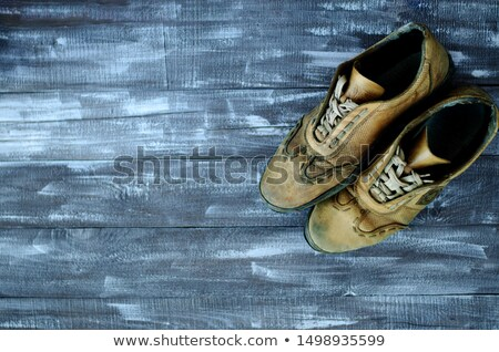 Pair of worn sneakers Stock photo © digitalr