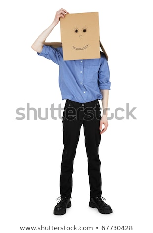 Guy wore a head box with painted face Stock photo © pzaxe
